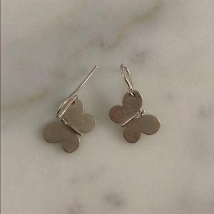Tous Silver Butterfly Earrings